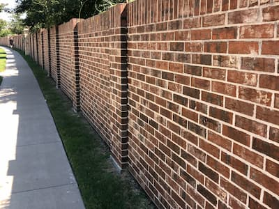 Brick screen wall DFW