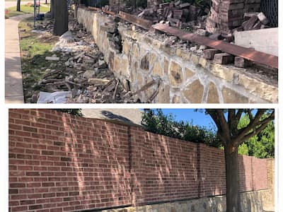 Brick Wall Repair Dallas-Fort Worth