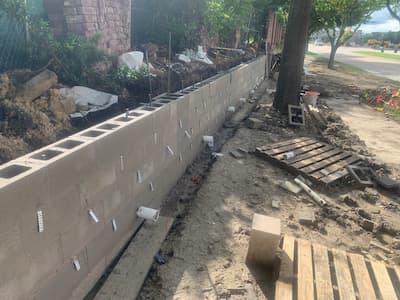 Concrete retaining walls Dallas-Fort Worth